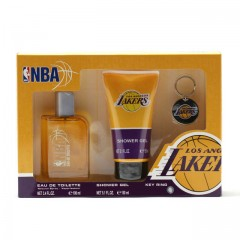 NBA LAKERS MEN- 3.4 OZ SP/5.1 OZ SG/KEY RING