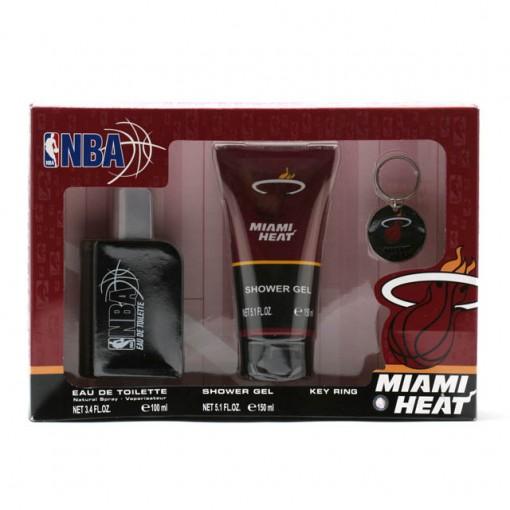 NBA HEAT MEN3.4 OZ SP/5.1 OZ SG/KEY RING