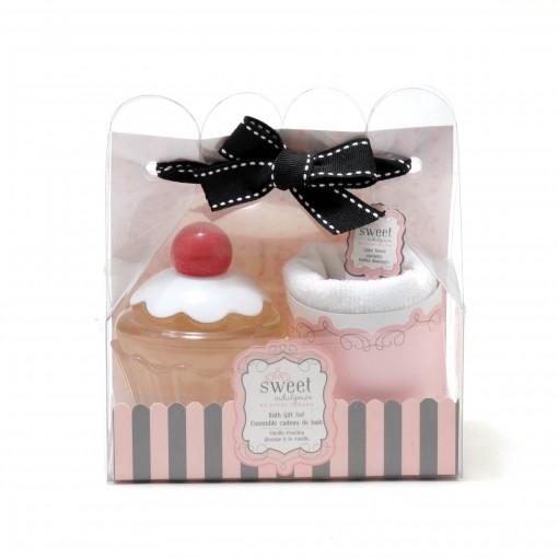 Cupcake Bubble Bath 6.1 Oz Vanilla / Face Cloth