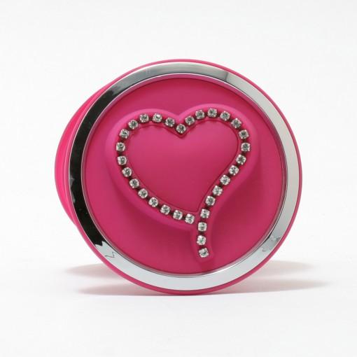 Swarovski Heart Compact Pink
